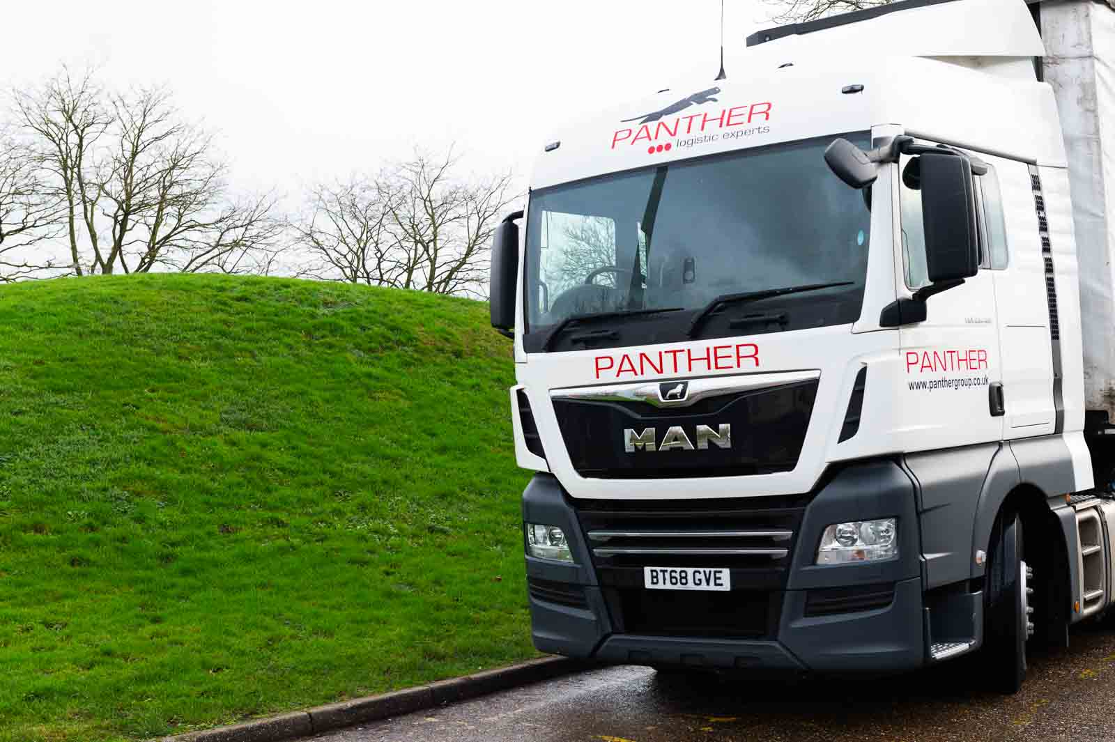 A Panther Logistics lorry on its way out for a two man delivery in the UK